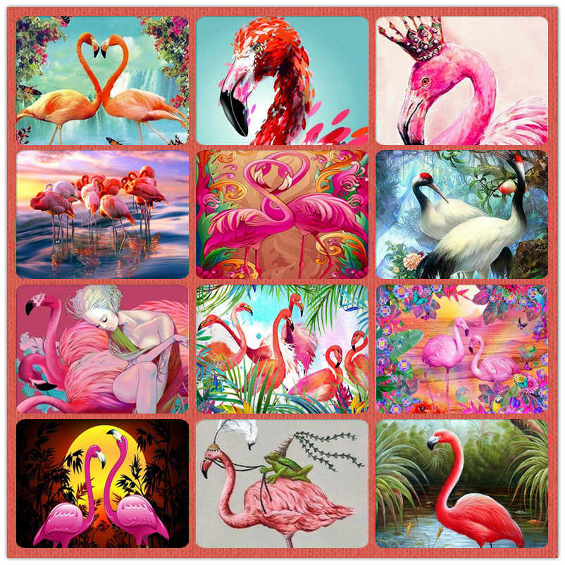 full square / round diamond diamond embroidery flamingo lover 5D DIY diamond painting cross stitch rhinestone mosaic