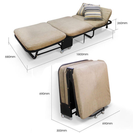 Купить с кэшбэком Lunch break Folding single bed office nap Tri-fold sponge foldable bed leisure simple care bed