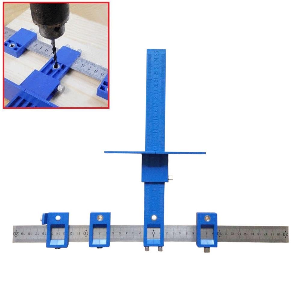 Abnehmbare Locher Jig Werkzeug Bohrer Führungshülse Hardware-kabinett Holz Bohren Dowelling Handwerkzeug Sets -- M25