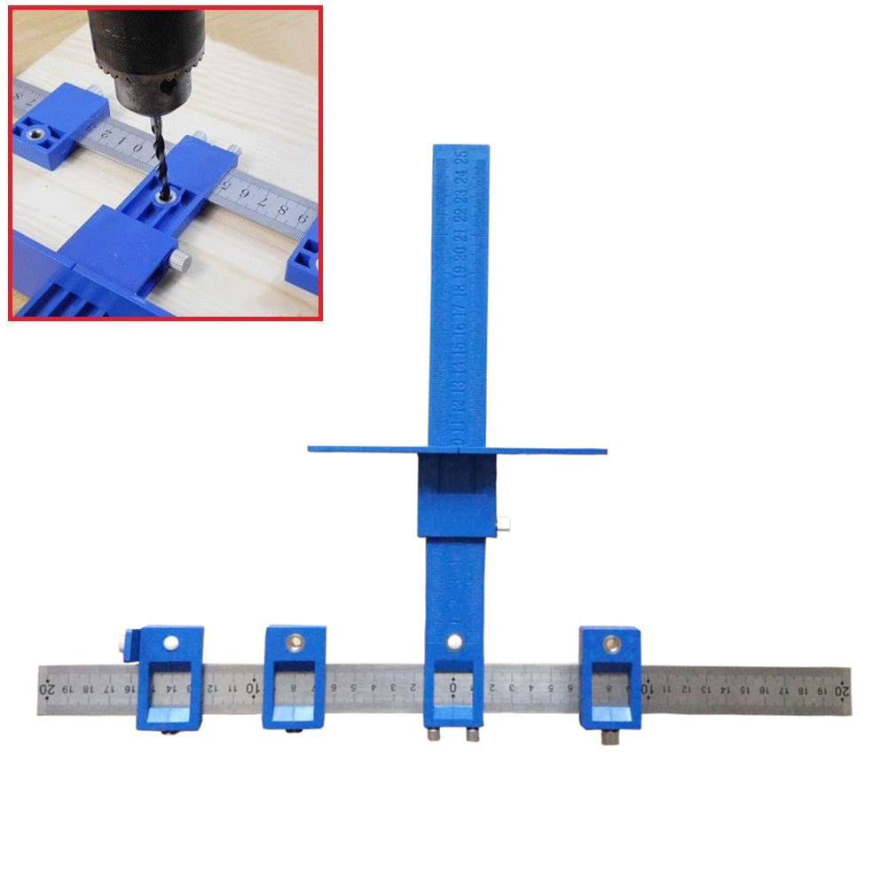 Detachable Hole Punch Jig Tool Drill Guide Sleeve Cabinet Hardware Wood Drilling Dowelling Hand Tool Sets --M25 все цены