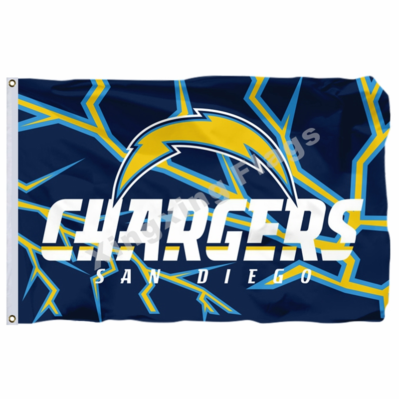 San Diego Chargers Banner: San Diego Chargers Flag 3ft X 5ft Polyester NFL San Diego