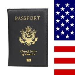 HEQUN Американский Женская Обложка для паспорта розовый гигант камешек мягкой из искусственной кожи Обложка для паспорта путешествия