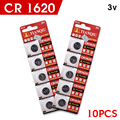 + Fast Selling + 10Pcs/Lot 3 volt lithium li-ion coin cell batteries watch calculator bulk 5009lc kcr1620 cr1620 1620 ecr1620