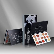 QIBEST 1PC 15 Color Shimmer Matte Eyeshadow Palette Nude Glitter Eye Shadow Paleta De Sombra Highly Pigmented