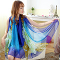 2016 Hot Sale Chiffon Cachecol Mulheres Primavera E No Outono Impressão lenço de seda da forma Das Senhoras longo Xale Feminino lenço de seda de luxo marca