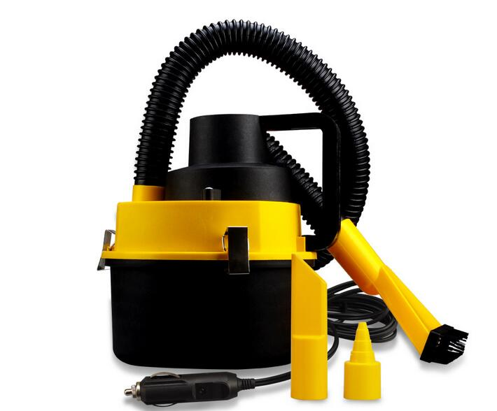 High quality Portable Auto Car Dust Vacuum Cleaner with Brush / Crevice / Nozzle Head 12V Wet & Dry aspirador de po