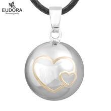 Ожерелье с кулоном в виде двойного сердца для беременных и малышей