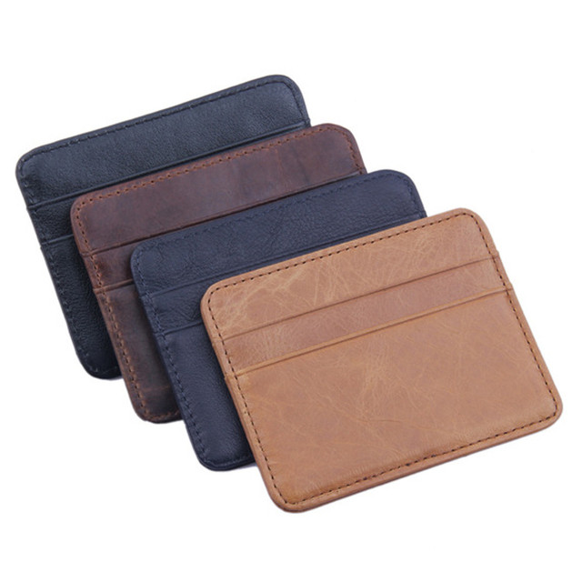 c2401769bb3c Xiniu Men s Women s Leather Small ID Credit Card Wallet Holder Slim Pocket  Case passport cover travel wallet document pass  4s