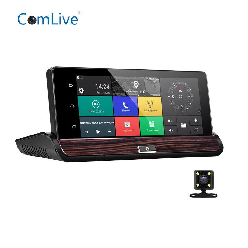 Camlive V50 3g Автомобильные видеорегистраторы 7 gps Bluetooth навигация автомобильный видеорегистратор двойной камеры HD1080P камеры черточки Автомобил...