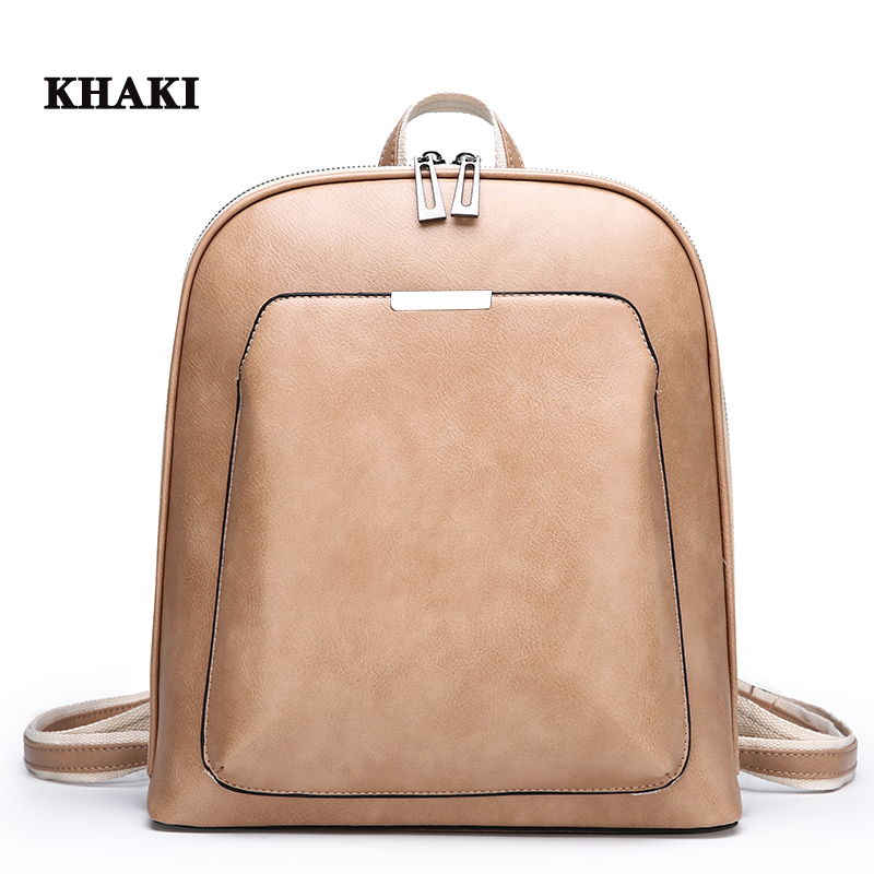 HTB1PuodRYvpK1RjSZPiq6zmwXXaY 2019 Women Leather Backpacks For Girls Sac a Dos School Backpack Female Travel Shoulder Bagpack Ladies Casual Daypacks Mochilas