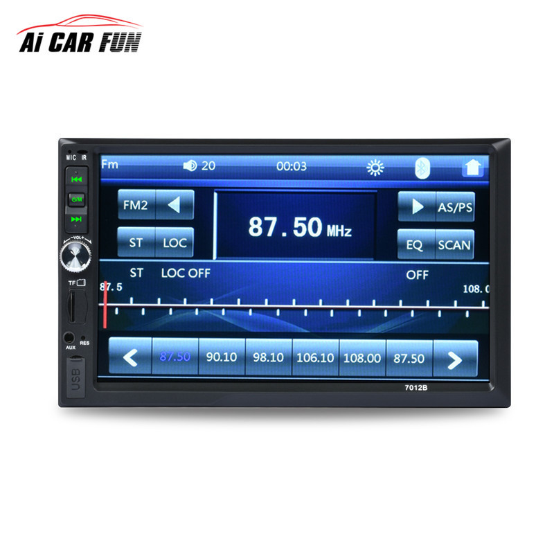 7012B 7 Inch stereo car bluetooth double 2 din MP5 Player 12V Auto Radio USB SD AUX FM HD TFT Screen speakers for auto component 7 inch dual core bluetooth tft screen 2 din car audio stereo mp5 player 12v auto support aux fm usb sd mmc 7012b page 6