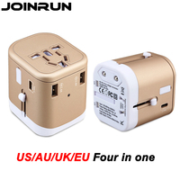Joinrun Universal Travel Plug power Socket Adapter Internationale reizen adapter USB Power Charger Converter EU UK US AU