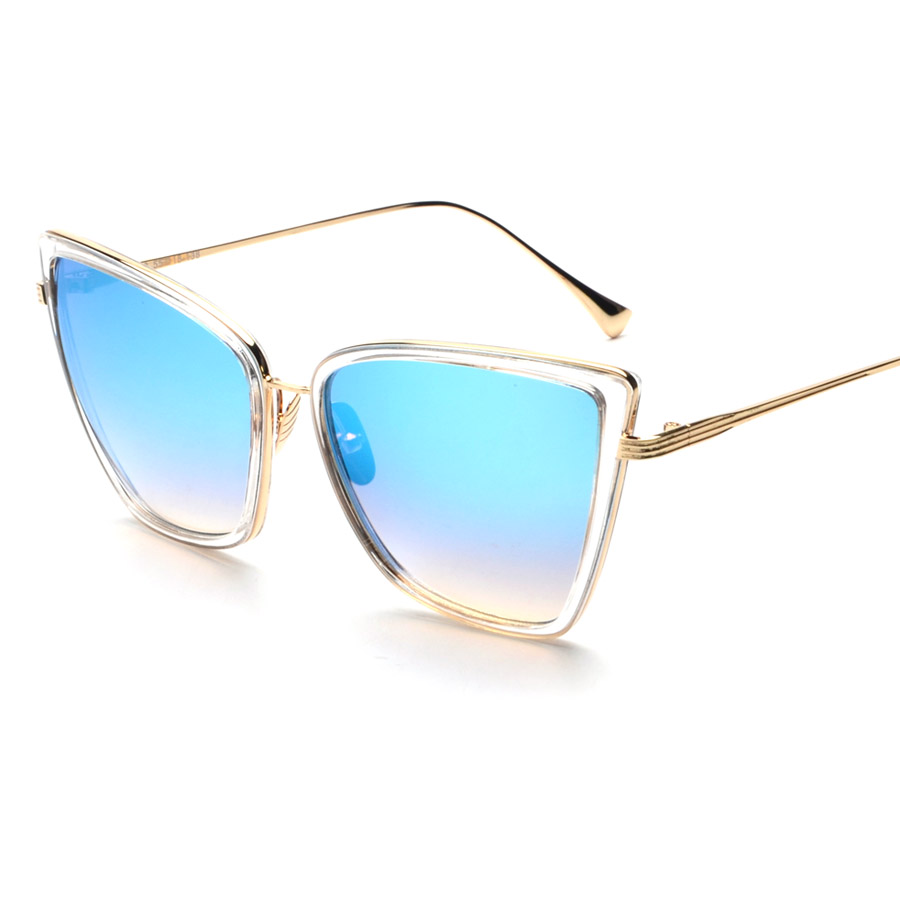 OOBON Big sexy transparent cat eye sunglasses 2017 women ...