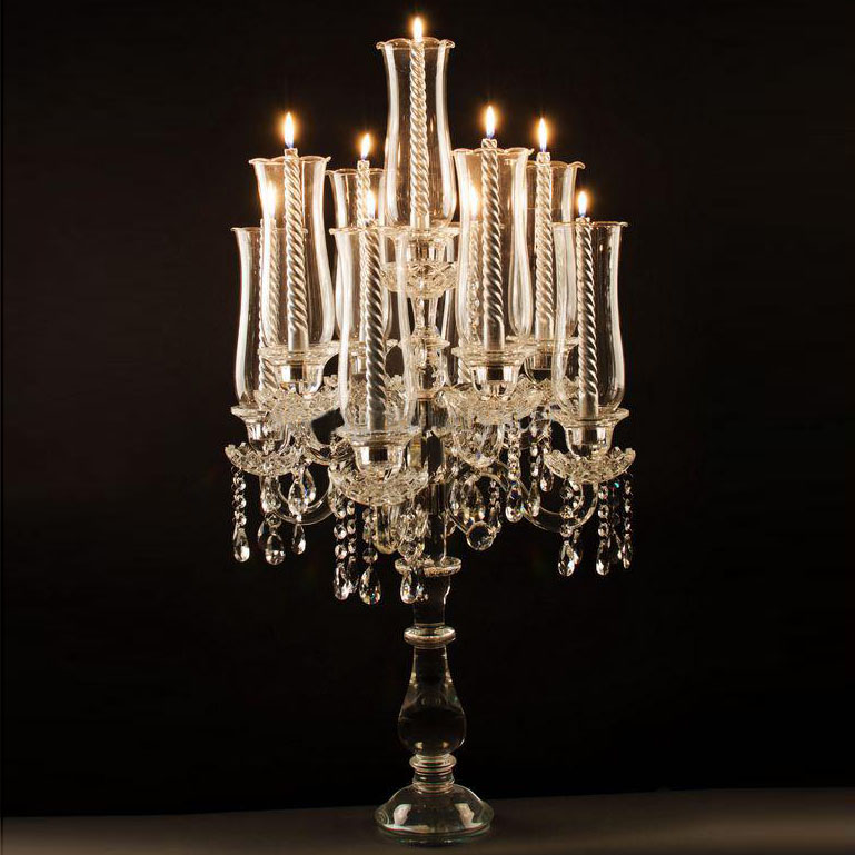 Elegant arms crystal candelabra wedding decoration
