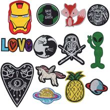 New Arrival Horse Universe Alien Chief Death Patches For Clothing Patchwork Embroidered Appliques Garment Stickers Badge