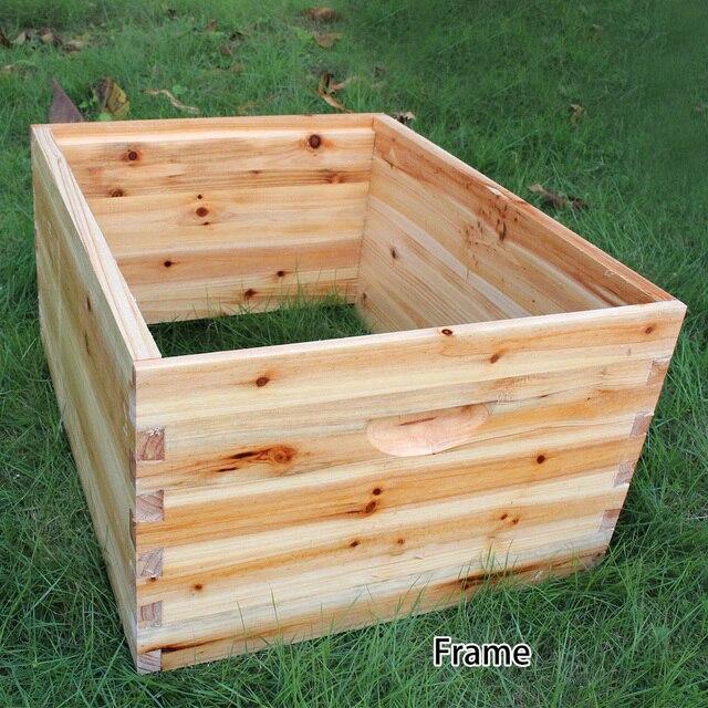 صندوق خلية النحل الخشبية مع 7 إطارات خلية النحل أدوات تربية النحل العسل الذاتي تتدفق خلية النحل البيت لوازم معدات تربية النحل 4