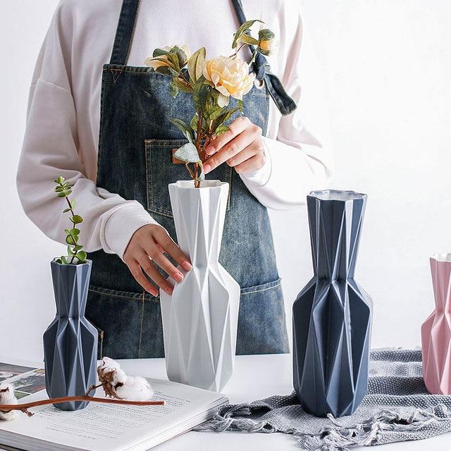 Origami Vases Ceramic Tabletop Flowerpot Vase Home Decoration Vase Nordic Style Modern Flower Vase Household Decor