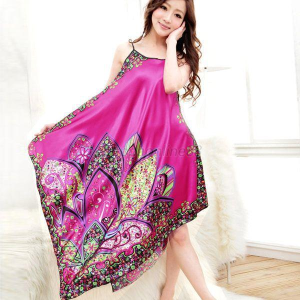 Women Casual Long Chemise Nightgown Sleepwear 1