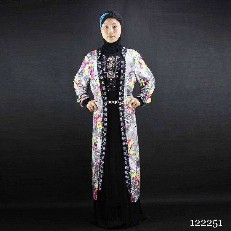 Robe musulmane à manches longues pour l& ...