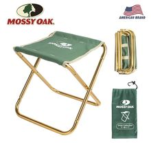 Mossy Oak Folding Stool Fishing chair Camping Chair Portable Lightweight with Green Bag and Carabiner