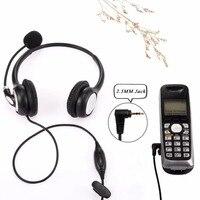Wantek телефон 2,5 мм разъем, гарнитура для Cisco linksys spa Polycom Grandstream Panasonic офисные Deskphone DECT беспроводные телефоны