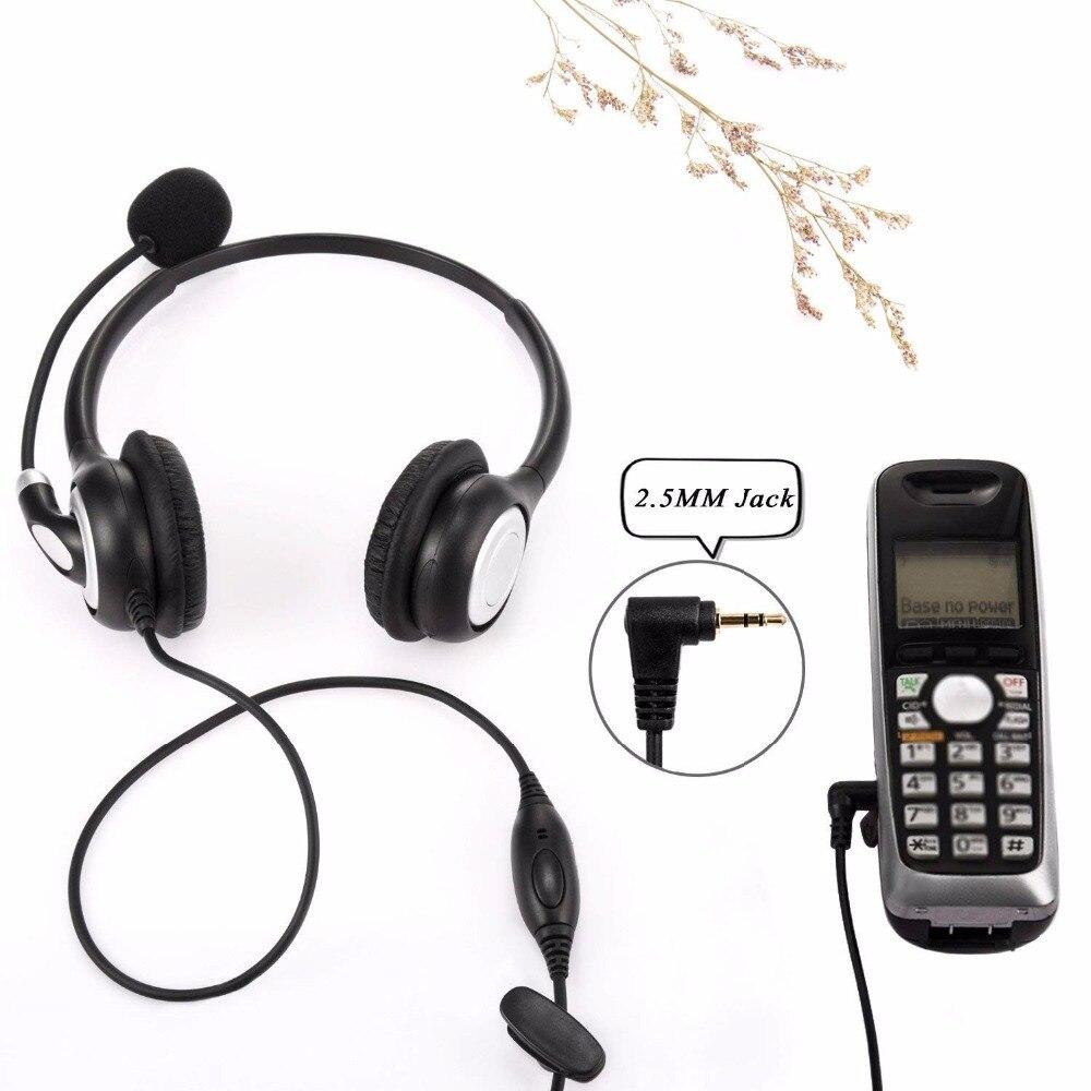 Wantek Telephone 2 5mm Jack Headset For Cisco Linksys Spa Polycom Grandstream Panasonic Office Deskphone Dect Cordless Phones Headphone Headset Aliexpress
