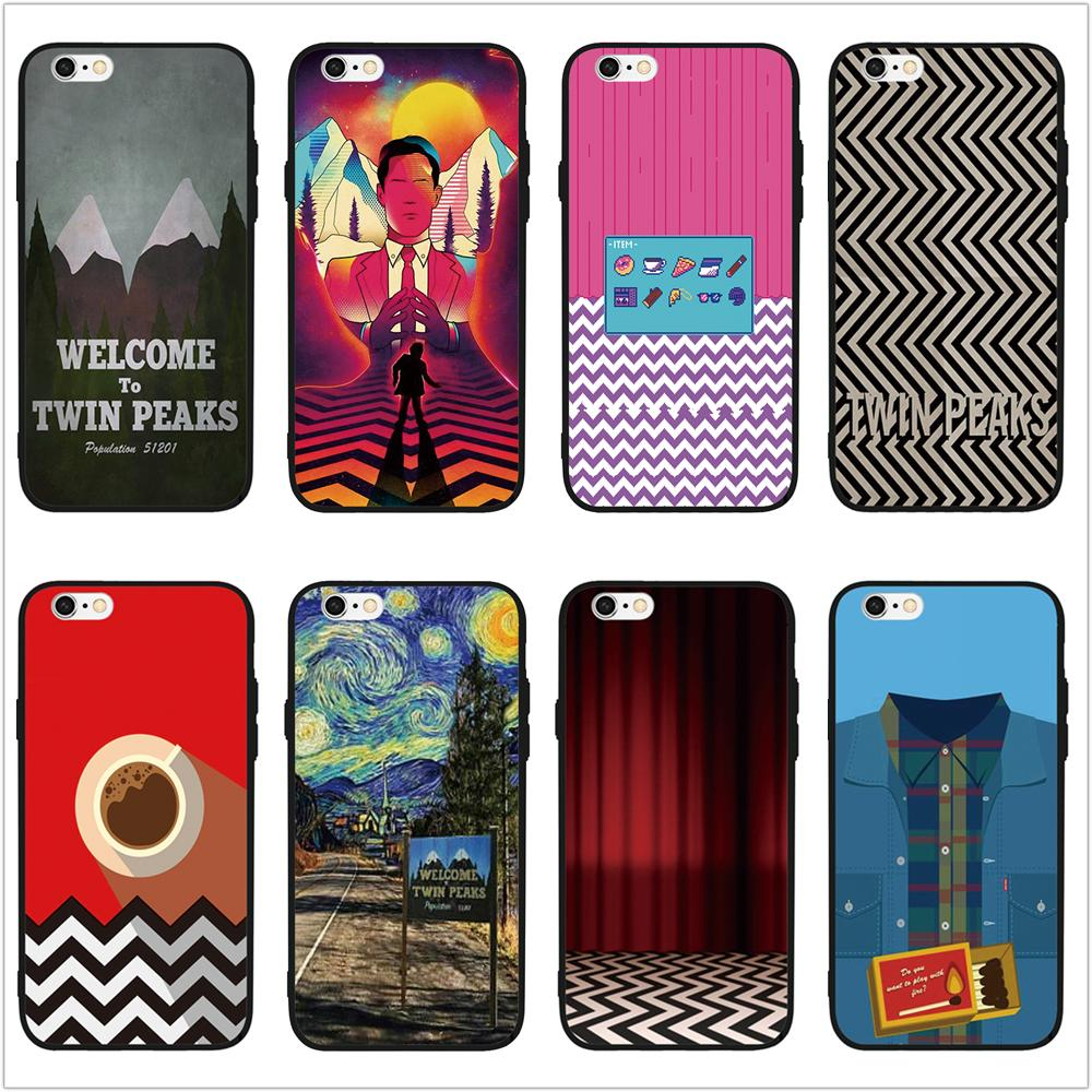 FATPERSON Fire walk with me Twin Peaks Printed Luxury Mobile Phone Cases For iPhone 6 6S Plus 7 8 Plus 5 5S SE X 10