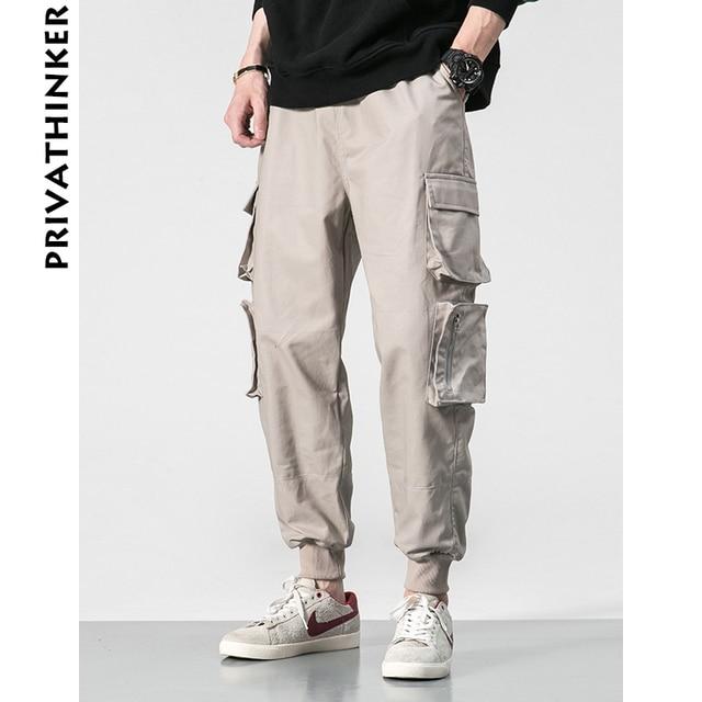 e1820fd3 Privathinker Designer Brand INS 2018 Men Joggers Loose Black Cargo Pants Men  Sweatpants Korean Style Streetwear Clothes