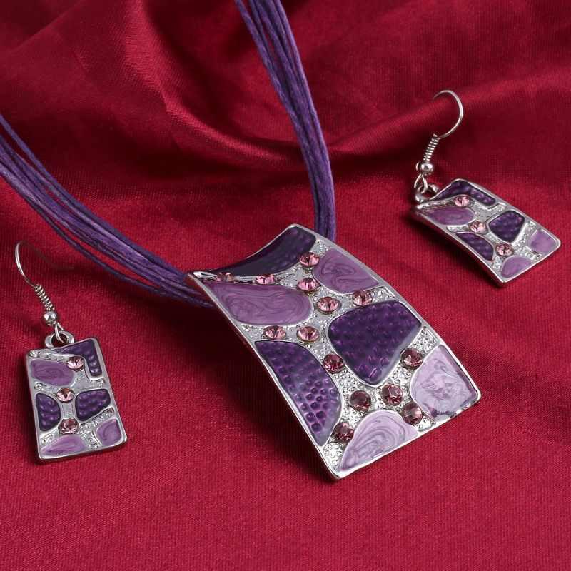 Плетеные украшения ручной работы наборы Модный драгоценный камень эффектное ожерелье для женщин Нигерия свадебное платье в африканском стиле бисер летний ювелирный набор