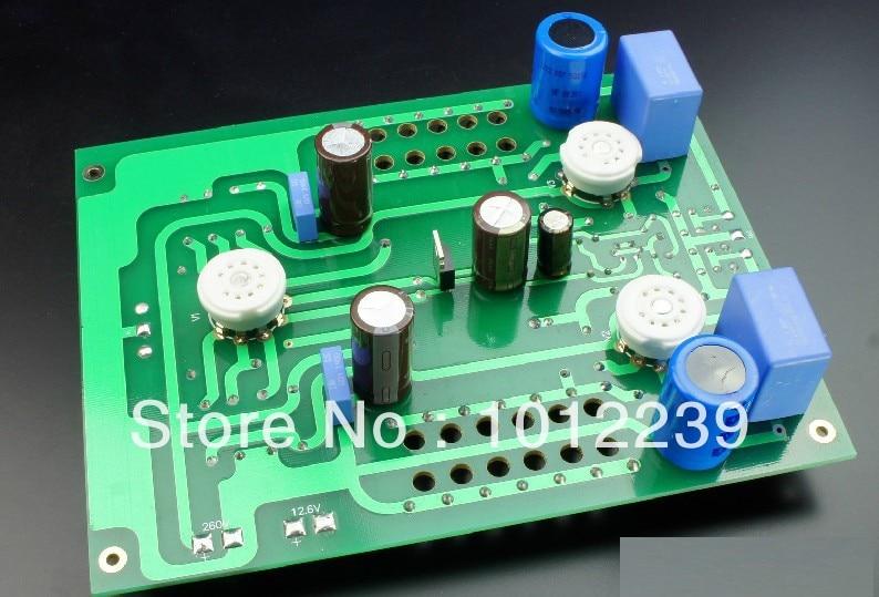 Assembled LS24 tube headphone amplifier + pre-finished board appj pa1502a 6n4 6p6px2 tube headphone amplifier black