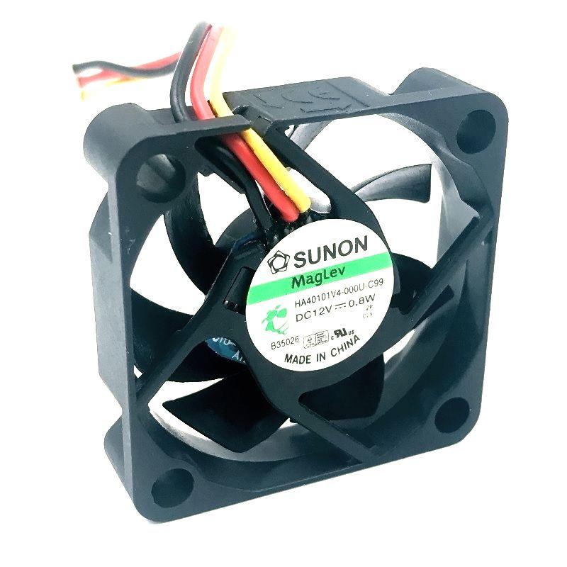 2pcs Sunon HA40101V4-0000-c99 4010 40MM 4CM 40*40*10 Cooling Fan 12V 0.8W 0.06A 3pin Support Velocimetry