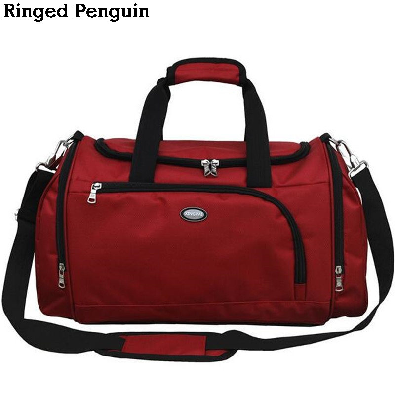 Ringed Penguin 2018 Mens high capacity portable bag Crossbody handbag business travel short men and women travel bag