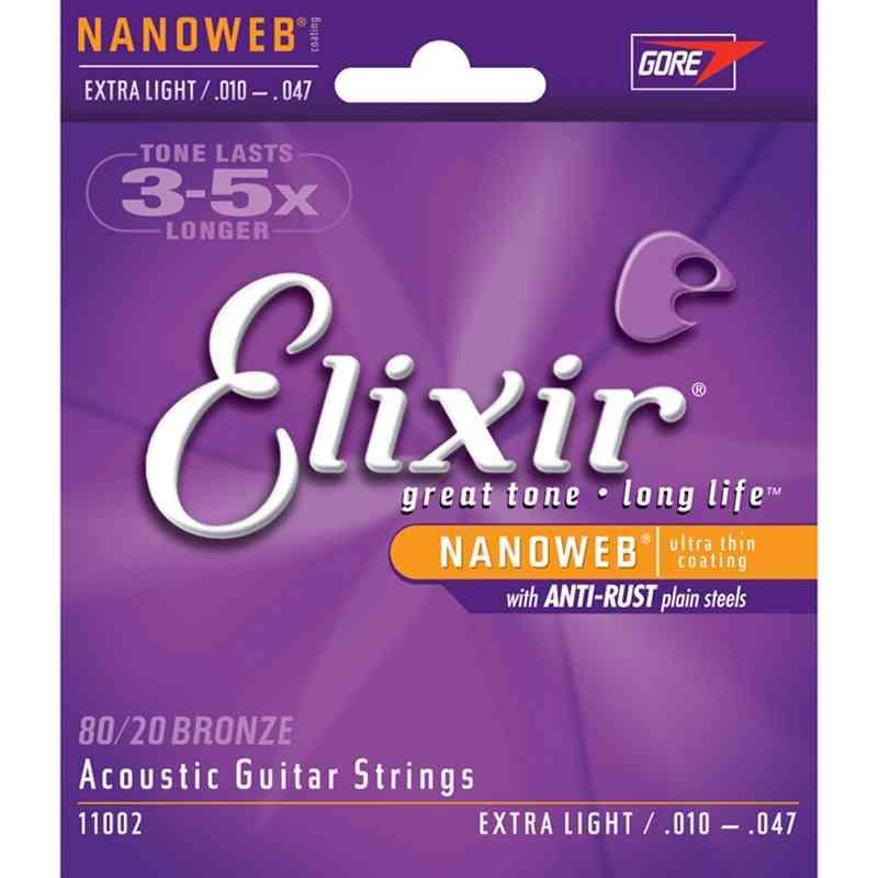 3 sets Elixir 11002 16052 11052 11027 11025 16102 16027 16002 16077 11100 Strings Acoustic Guitar  Accessories Guitar Parts