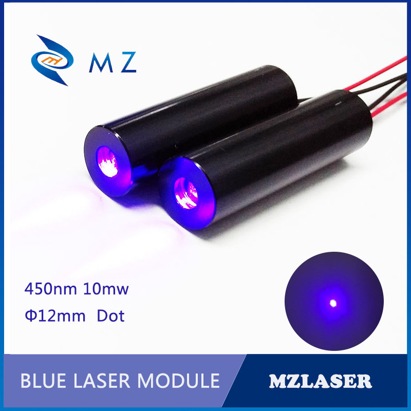 12mm 450nm 10mw Dot Blue Laser Module Industrial Grade APC Constant Power Drive Laser