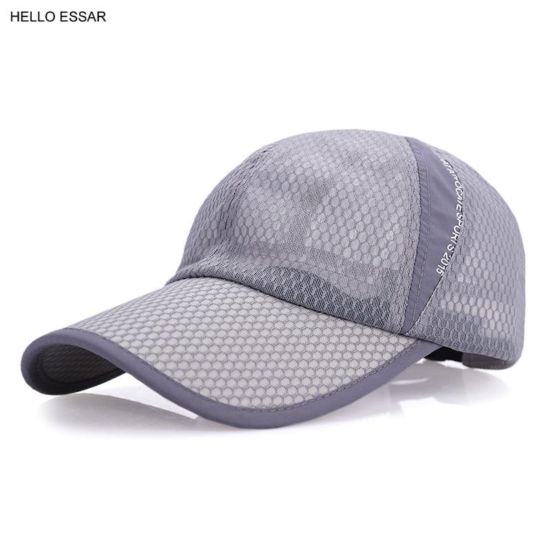 NEW Rapid Drying Mesh Men Baseball Cap Women Snapback Golf Sports Hat Cap Fitted Shade Outdoors Travel Trucker Hats C1137