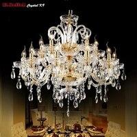 Золотая хрустальная люстра современное освещение для гостиной столовая люстра огни Кристалл k9 люстры хрустальные огни