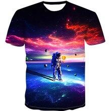 Newest Design T Shirt Men Starry sky digital print 3D shirts Funny T-Shirt Men/Women Summer Tops Tees Male Fashion Tshirts 4XL