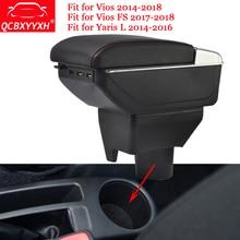 QCBXYYXH для Toyota Yaris L Новый Vios FS ABS и USB автомобиль подлокотник окно центральной консоли коробка для хранения держатель дело авто украсить аксессуары