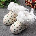 Otoño Invierno recién nacido botas niñas corderos de la cinta de la Mariposa zapatos de algodón zapatos del pie juegos de anti-engrosamiento zapatos calientes Kawaii xz49