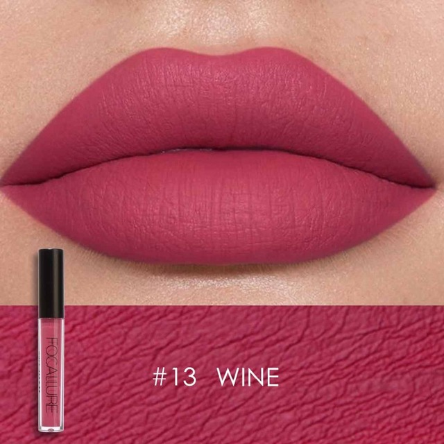 FOCALLURE Waterproof Liquid Lipstick Velvet Lip Tint Sexy Red Lip Makeup Keep 24 Hours Matte Lipstick