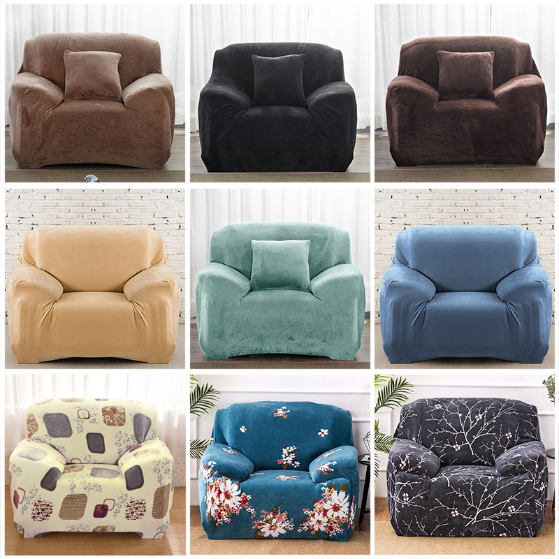 Thick Velvet Sofa Cover Universal Couch Cover Sofa Slipcovers Machine Washable Seat Bench Covers For Pets Kids Home Living Room