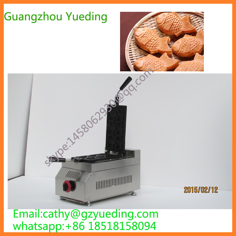 hot sale gas taiyaki machine/Gas closed mouth maker /Gas fish waffle