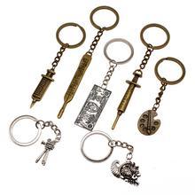 Vintage Nurse Keychain Metal Car Key Chain Hospital Tool Cool Keychains Creative Handmade Graduation Gift