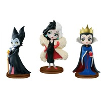 Mini Princess Dolls Rapunzel Jasmine Tiana PVC Figures Collectible Model Toys
