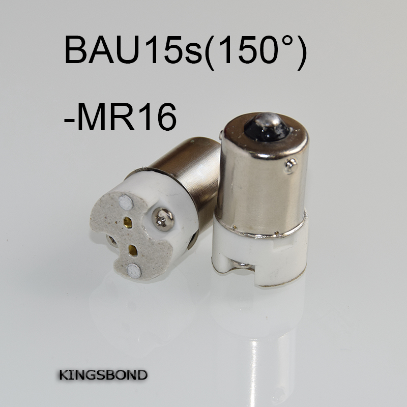 Freeshipping 10pcs/lot portable BAU15s to MR16 led lamp base converter light bulb holder to MR16,G4,G5.3,GY6.35,G8 led socket