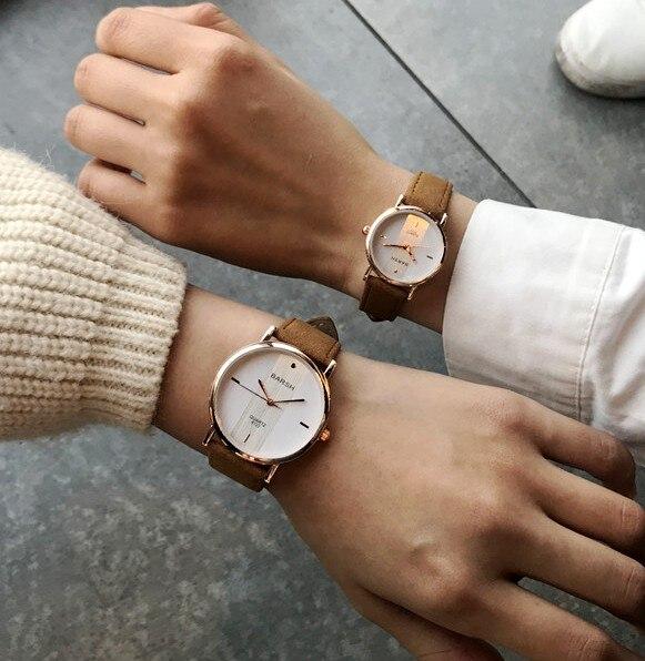 9005248e685 Casal Relógios para Amantes Par Ultrafinos luxo marca Quartz Relógio de  Pulso Das Mulheres Dos Homens