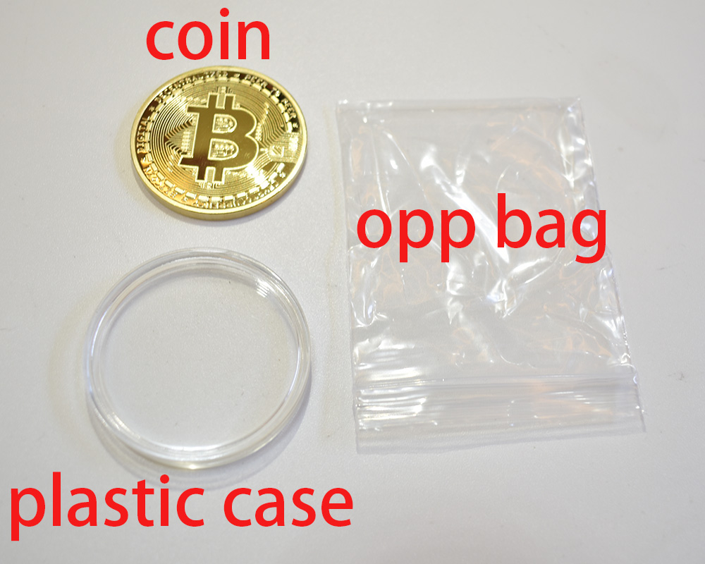 Cheap Bitcoin Coin Bit Cryptocurrency BTC Coin Ripple Metal Physical Coin With Plastic Shell-5