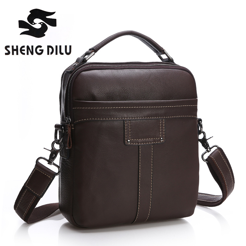 First Layer Genuine Leather Men Bag messenger bags shoulder Business Men's Casual crossbody Handbags Tote man Bag High Quality men business travel crossbody shoulder handbags bag luxury style messenger bag high quality large capacity genuine leather bags