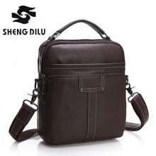 First Layer Genuine Leather Men Bag messenger bags shoulder Business Men's Casual crossbody Handbags Tote man Bag High Quality