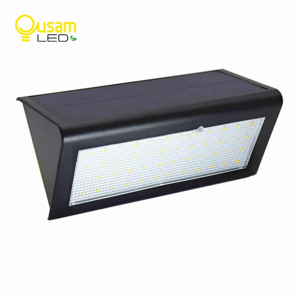 Outdoor Solar Porch LED Lights With Radar Motion Sensor Upgraded Double Brightness 800LM 48LEDs Wireless Security Lighting